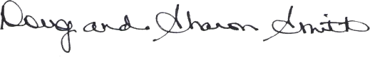 Doug & Sharon's signature